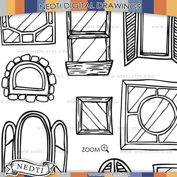 Windows Doodle Clip Art Window Clipart Digital Images PNG