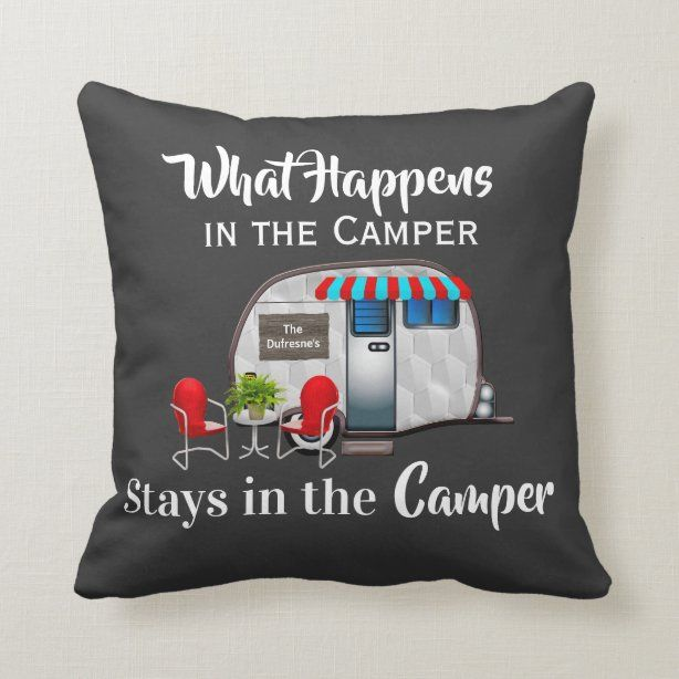 Camper Decorative Throw Pillows