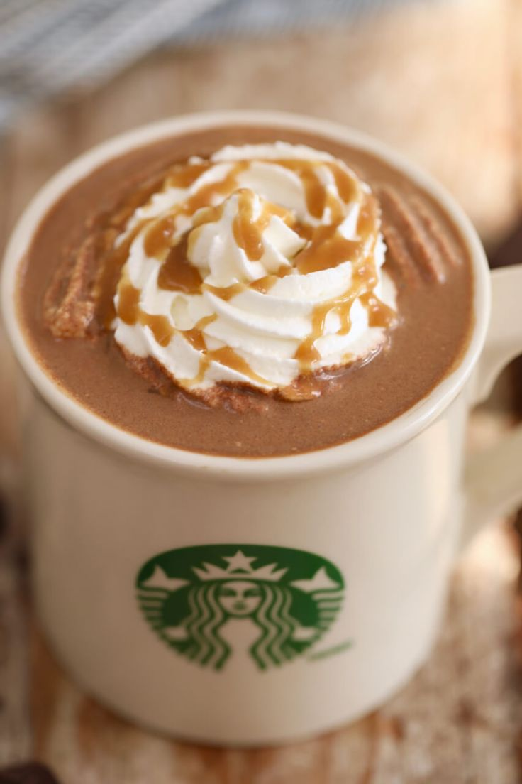 Starbucks Salted Caramel Hot Chocolate - Now you know how to make it at home, saving you time, money and no doubt calories too.
