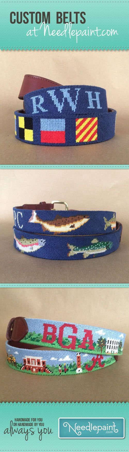 Let us design a custom #NeedlepointBelt for you!  We can create something from scratch or personalize an existing design.  We sell DIY needlepoint kits and fully stitched hand crafted Custom needlepoint belts.  Learn more at www.Needlepaint.com