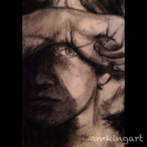 'Hiding' in charcoal