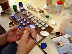 Las Miniaturas de Diosy: Tutoríal de Vajillas - How to make ceramics // miniature // dollhouse