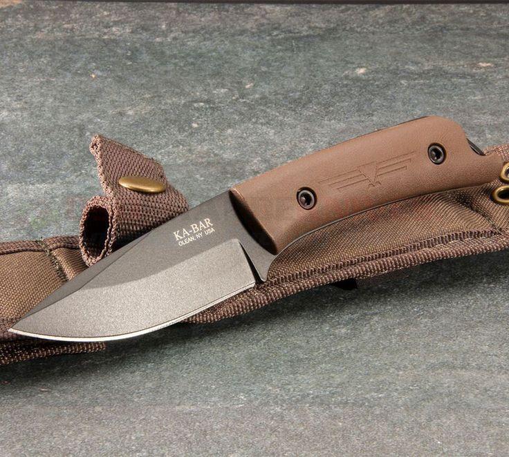 KA-BAR Jarosz Globetrotter 7502 Drop Point Fixed Blade Knife | OsoGrandeKnives
