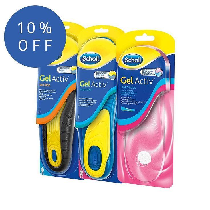 Save 10% on Scholl Gel Activ insoles  pepperyspot.com