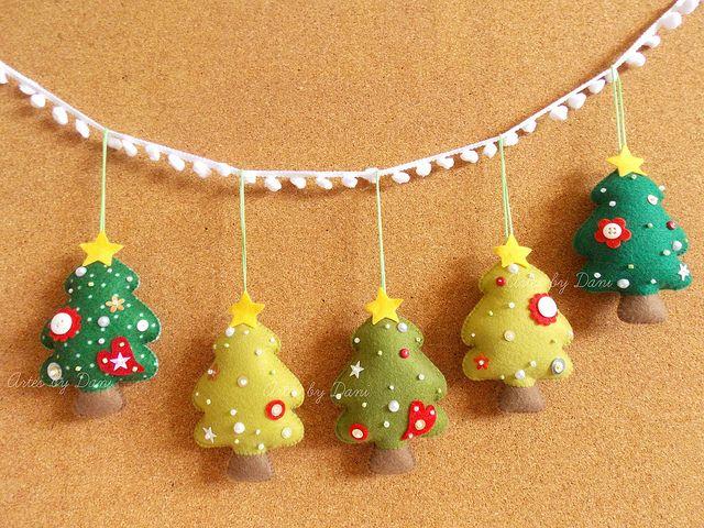 Arboles de navidad en fieltro - Enfeites de Natal! | Flickr – Compartilhamento de fotos!