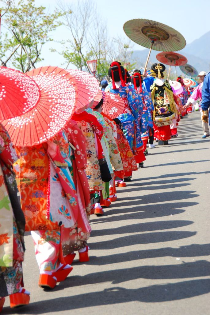 Oiran parade in Japan http://weathertightroofinginc.com  #roofer #roofrepair