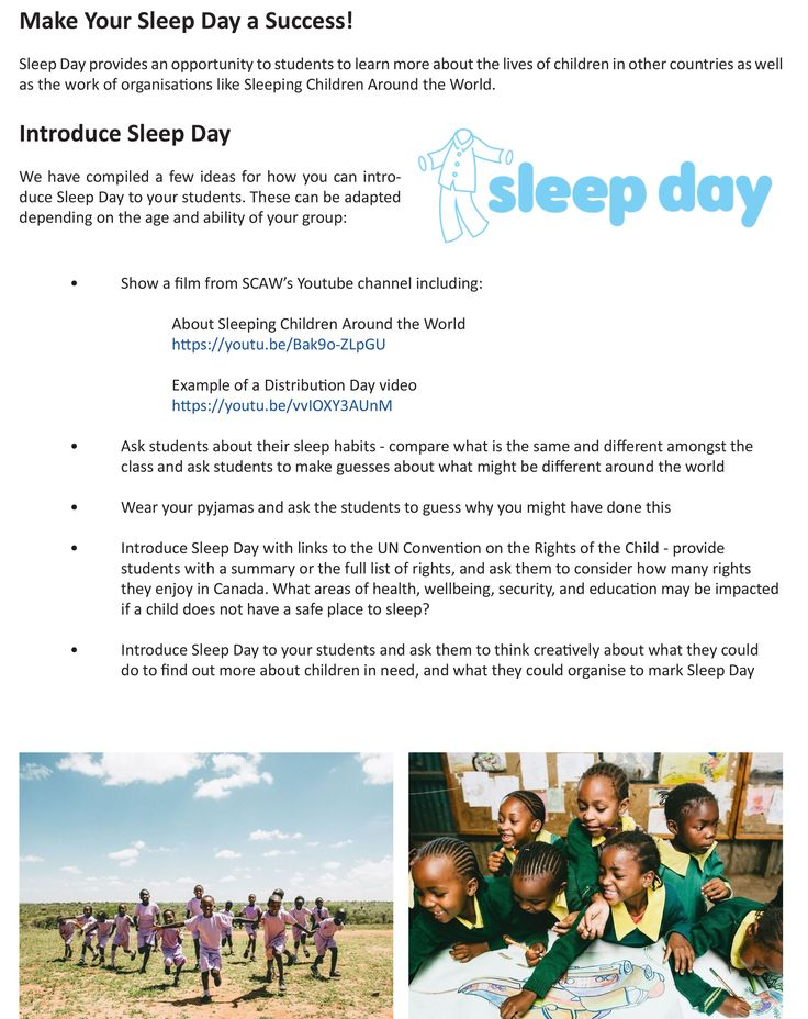 Teacher Resource for Sleep Day- page 2