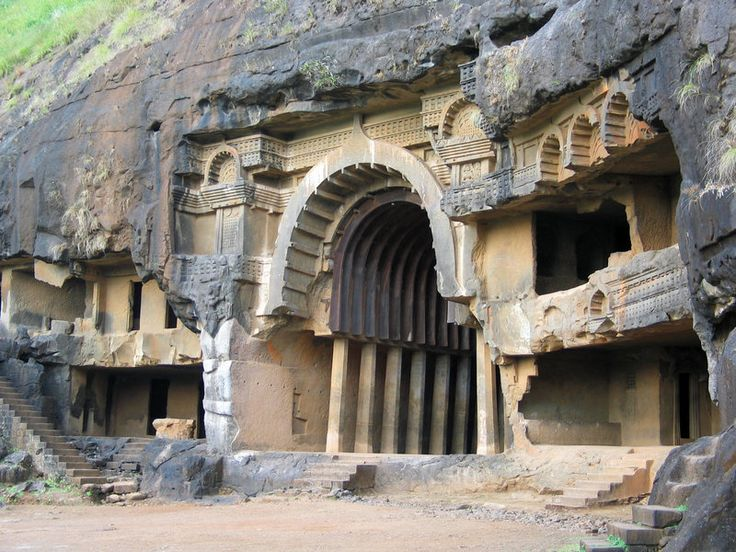 Temples Inside Caves Are What Remains of an Ancient Buddhist Society