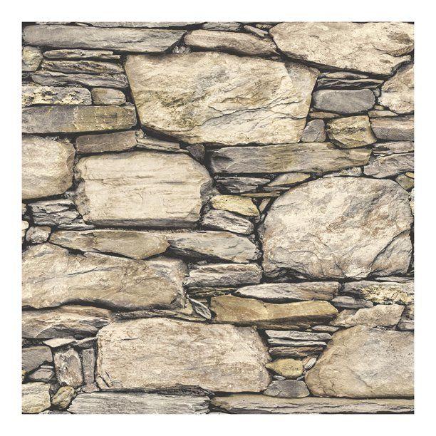 Nuwallpaper Hadrian Stone Wall Peel Stick Wallpaper Walmart Com In 2021 Faux Stone Walls Stone Wallpaper Exterior Stone