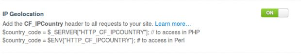 Cloudflare geolocation IP