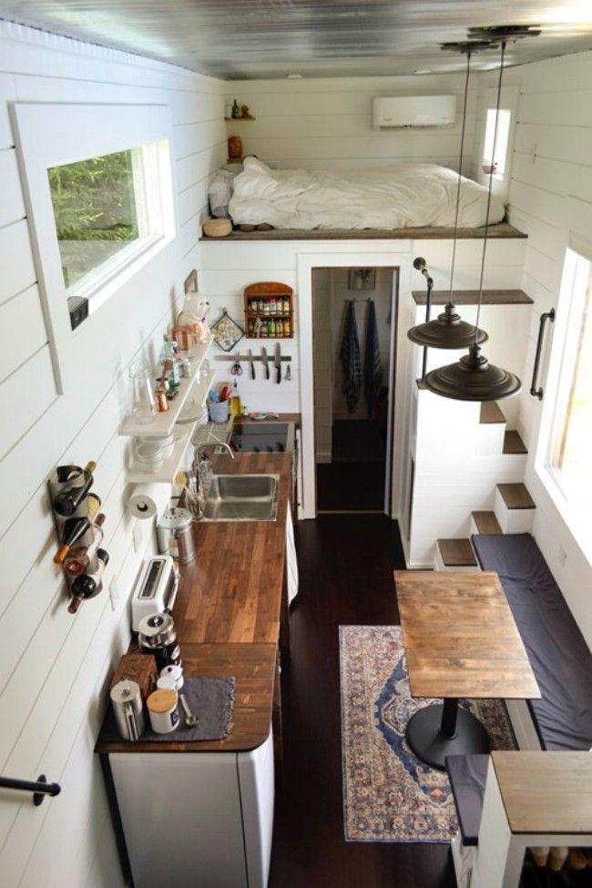 This 280 Square Foot House Has So Much Light Inside Tiny House Interior Design Tiny House Loft Tiny House Interior