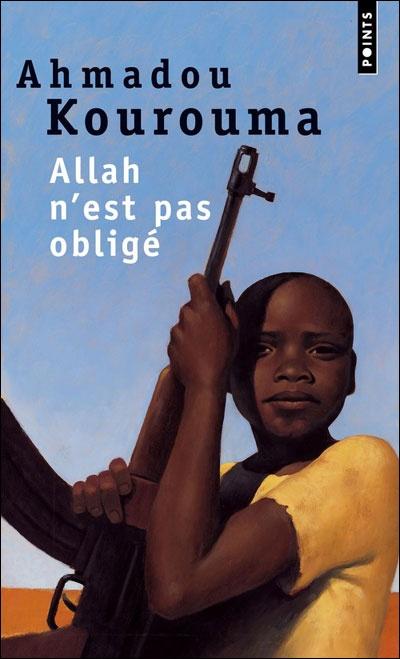 (enfants soldats) Numéro 1 dans mon palmarès, à lire et à relire! «Birahima, le narrateur de ce roman, a une douzaine d'années et il retrace son itinéraire d'enfant-soldat de l'Afrique contemporaine, entre le Liberia et la Sierra Leone. Orphelin, jeté sur les routes en compagnie d'un marabout mi-philosophe mi-escroc, Birahima se fait enrôler dans une bande de pillards. 'Allah n'est pas obligé d'être juste dans toutes les choses qu'il a créées ici-bas.'»