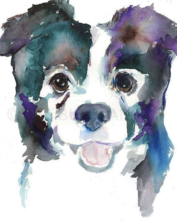 Papillon Dog Watercolor Print Papillon Art Dog Painting Dog