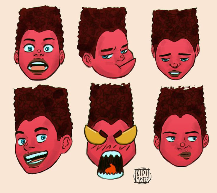 Faces of Red by KidiMaster