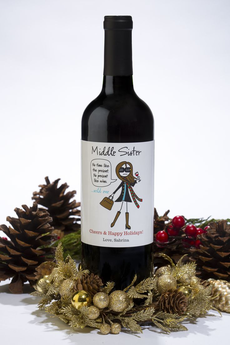 Custom MiddleSister wine labels are BACK - at no extra charge!