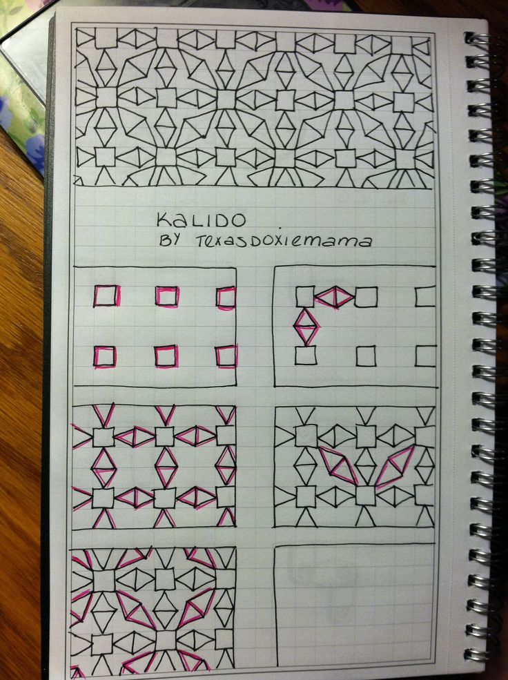#papercraft #Zentangle #doodling Kalido..love how you see the ease of progression of some zentangles
