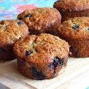 zucchini, blueberry muffins