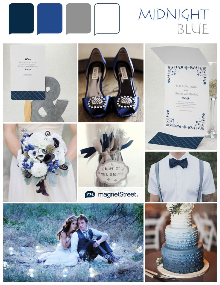 Blue wedding color inspiration from MagnetStreet