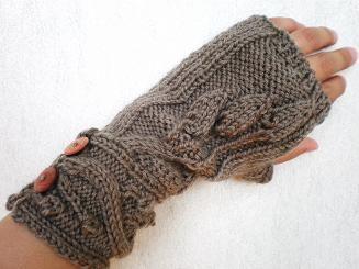 JUGEMテーマ:編み物スカートのほうもちょっとずつ編み進めているのですが(4つあるうちの2つ目の模様に入りました)スカートの糸と本が届くまでに編んでいたハンドウォーマーの糸始末が終わったので先にupしたいと思いますぜ。こんな気温の高いとき