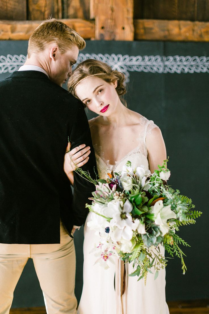 Photography: Christina Bernales Photography - christinabernales.com  Read More: http://www.stylemepretty.com/2014/08/22/baroquegothic-inspired-vermont-wedding-styled-shoot/