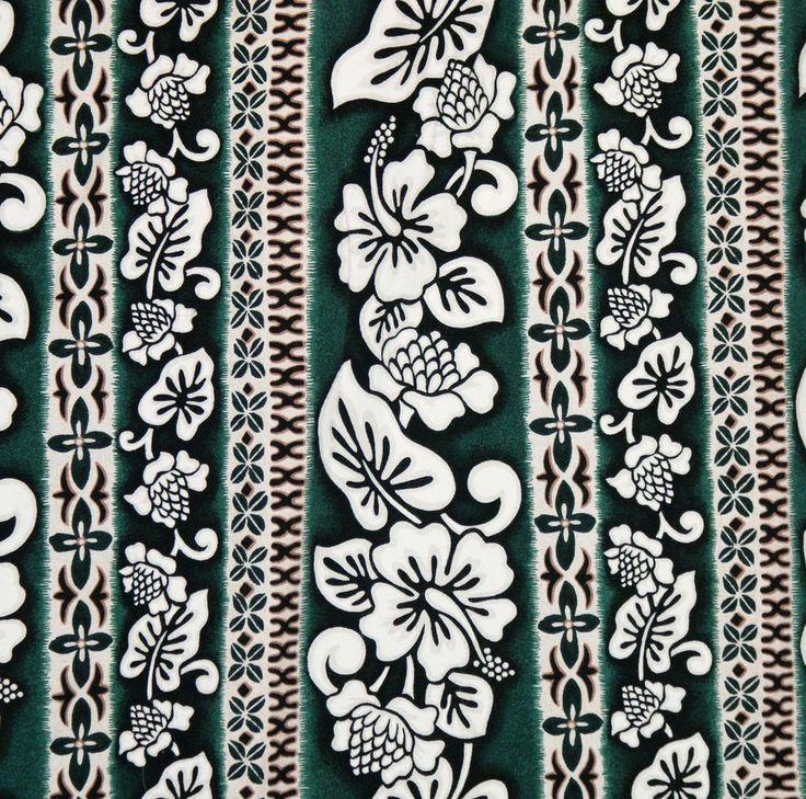 4XL Hawaiian Shirt Aloha ISLAND WEAR Green White Tapa Torch Ginger Tropical USA #IslandWear #Hawaiian