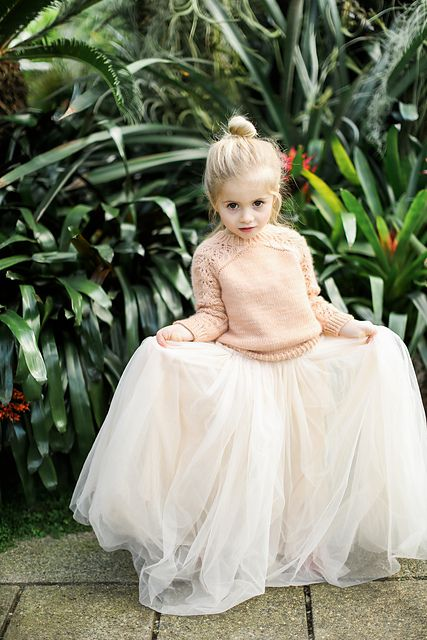 A chunky knit for a winter flower girl