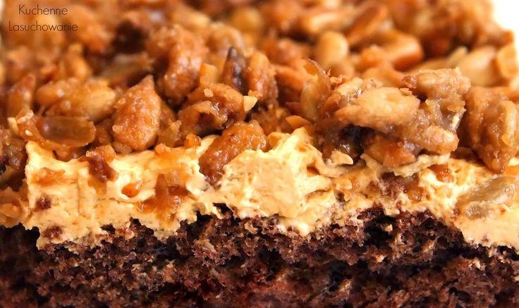 Kuchenne Łasuchowanie: Ciasto czekoladowe z masą karmelową i prażonym słonecznikiem