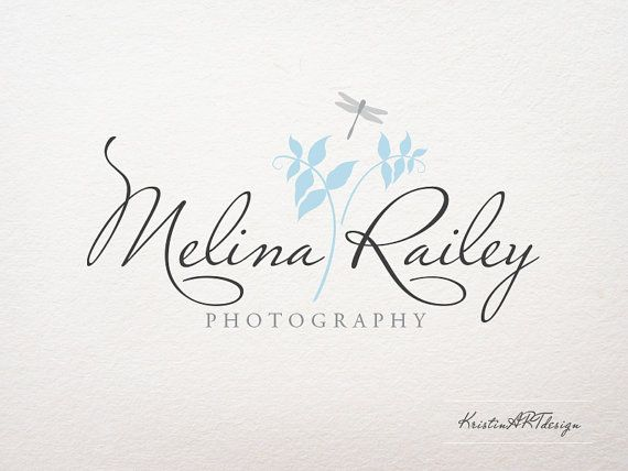 Logo design Dragonfly logo leaves logo Light by KristinARTdesign