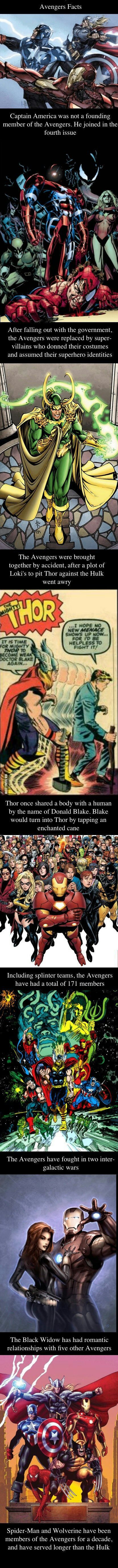 Avengers Facts.. knew most of these already