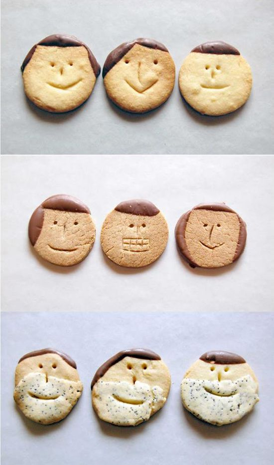 Funny cookies with a face - Yama food