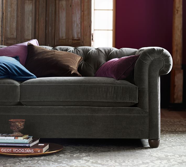 Pottery Barn Velvet Sofa: 80 Best Images About Pottery Barn On Pinterest