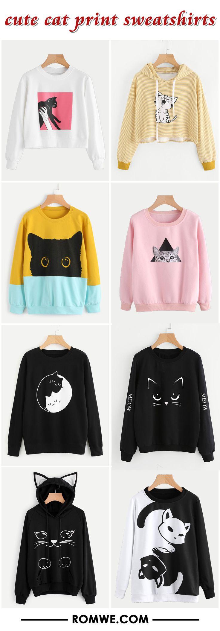 black friday sale - cute cat sweatshirts from romwe.com