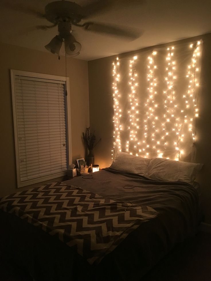 Fairy lights headboard. Room decor Pinterest Light headboard, Fairies and Lights