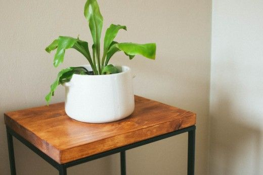 Making a Side Table, Ikea hack from The Clever Bunny