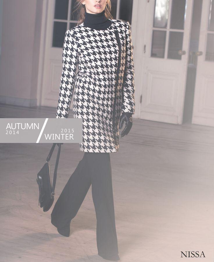 #nissa #fashion #fashionista #style #outfit #model #beautiful B/W Coat  www.nissa.ro