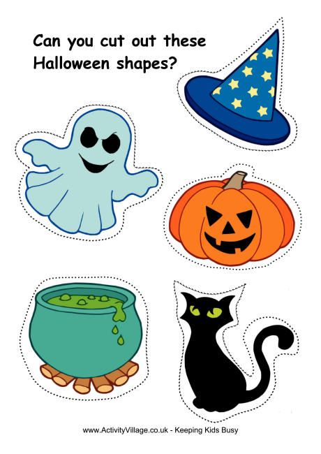 Halloween Cutting Shapes Good Practice For Little Hands Use These