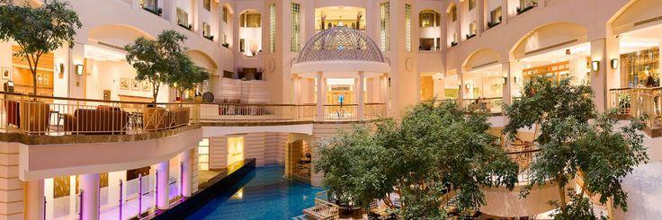 The atrium of the Grand Hyatt Hotel in Washington D.C.
