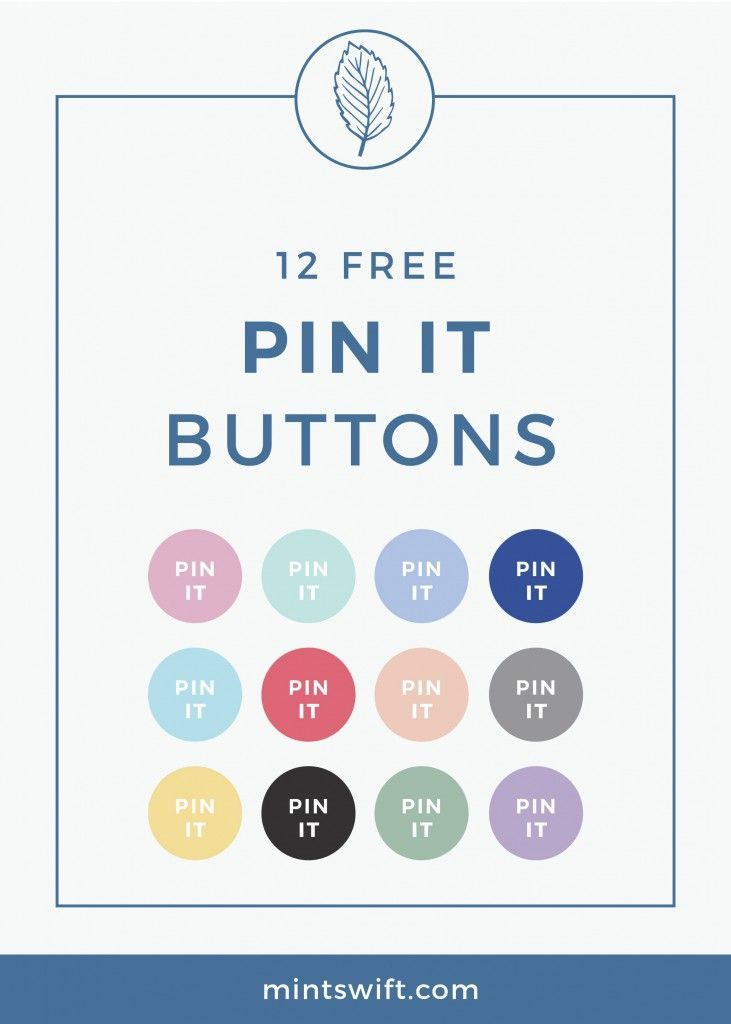 Free custom Pinterest buttons (Pin it Buttons) to get your blog content pinned & noticed! Add a custom Pinterest pin-it button to your WordPress site & grow your Pinterest traffic! Plus free pin-it button downloads to increase pins from your site