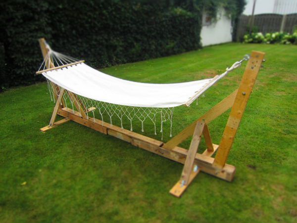 trick out your man cave yard with these diy wood pallet projects  26 photos   hammock framehammock     107 best pallet wood diy idea images on pinterest   pallet      rh   pinterest co uk