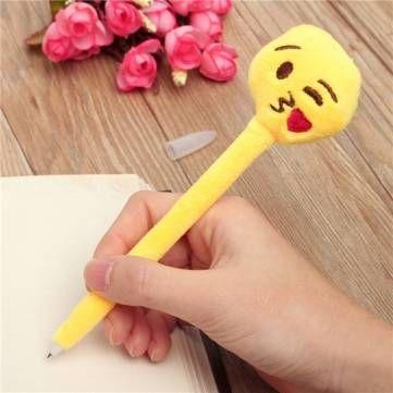 Desenhos animados bonitos emoji caneta esferográfica esferográfica papelaria criativa presente do estudante