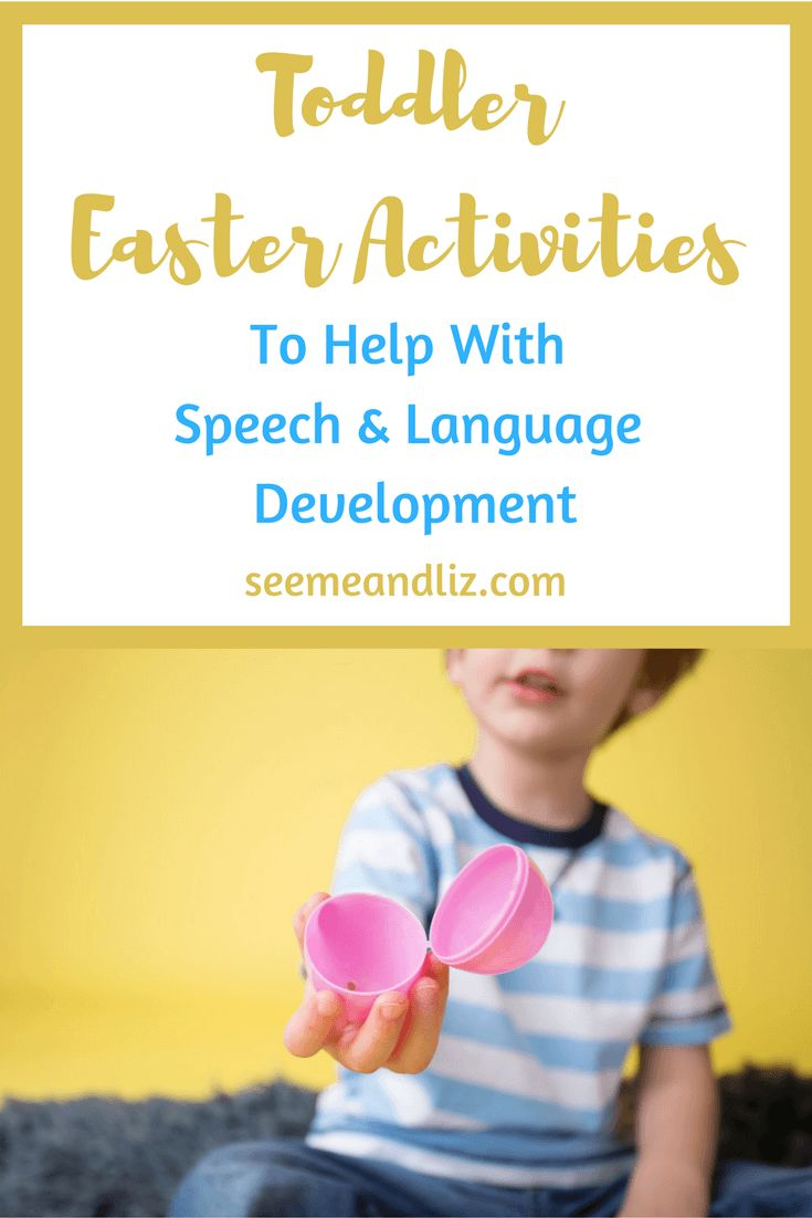 Simple Easter Activities For Toddlers that focus on speech & language development