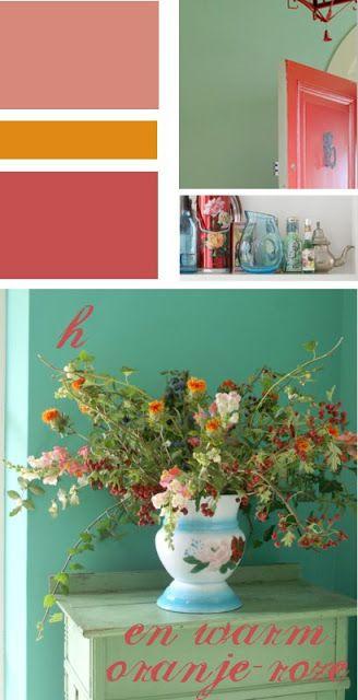 Afbeeldingsresultaat voor interieur rood en oranje