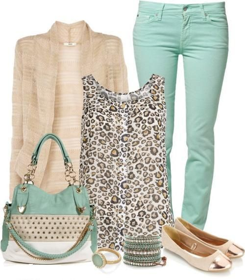 I am loving the use of mint green these days – clothes