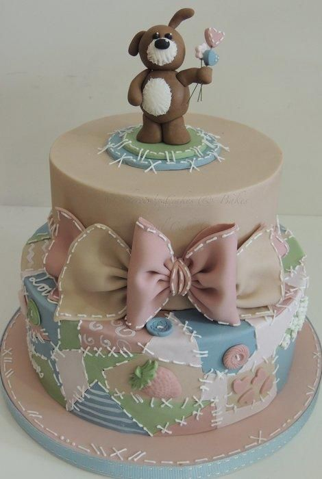 Patchwork puppy - Cake by Shereen