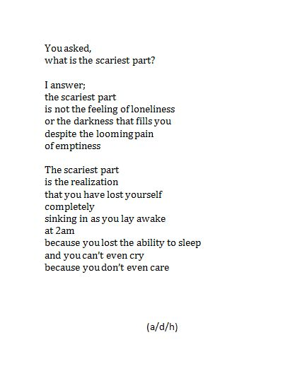 Anxiety: Anxiety Poems