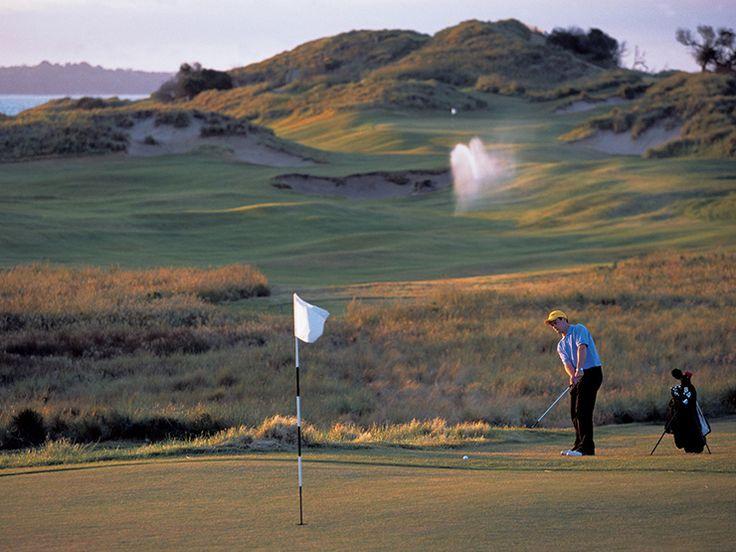 Tee off at Barnbougle Dunes Golf Links