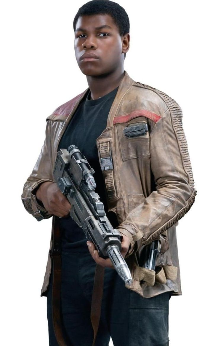 Star Wars Episode VII: the Force Awakens. Finn's Leather Jacket | You can also see Anakin's lightsaber hidden behind his arm