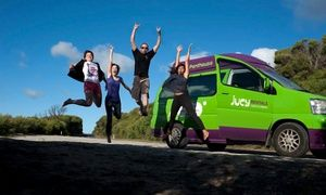 Groupon - Three- or Seven-Night Campervan Rental with Unlimited Miles from Jucy Rentals (Up to 40% Off) in Multiple Locations. Groupon deal price: $179
