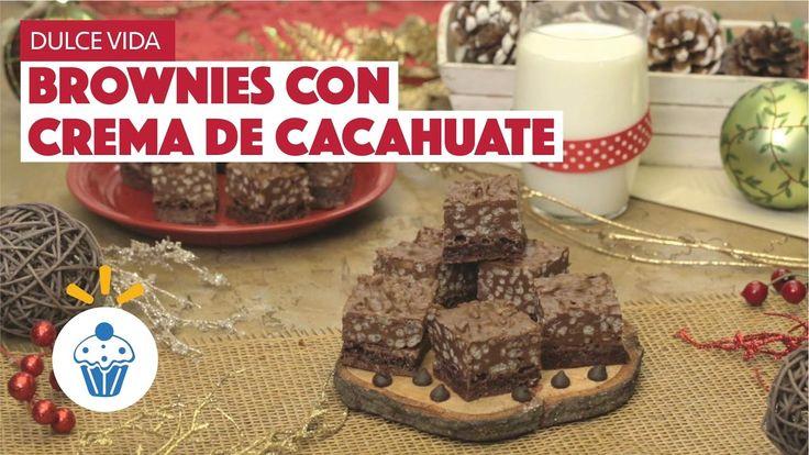 ¿Cómo preparar Brownies con Crema de Cacahuate? - Cocina Fresca