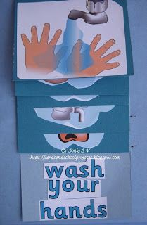 Here is a fun flip to use with kiddos who are learning to wash their hands.